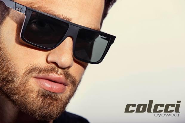 99166f8de Óculos de Sol Colcci Garnet 5012 Preto e Azul Fosco Unissex Polarizada Ref  05012A4147