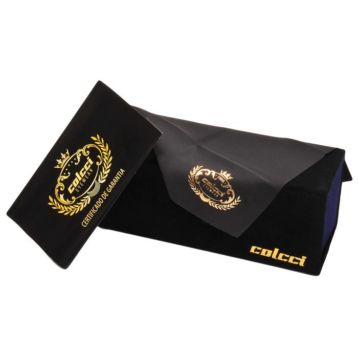 286ffc98487cf Óculos de Sol Colcci C0037 Preto Brilho com Dourado Envelhecido Feminino Ref  C0037A2586